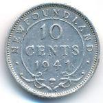 Ньюфаундленд, 10 центов (1941 г.)