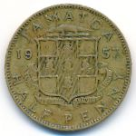 Ямайка, 1/2 пенни (1957–1961 г.)