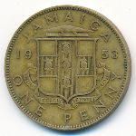 Ямайка, 1 пенни (1953–1958 г.)