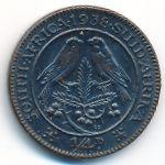 ЮАР, 1/4 пенни (1938–1947 г.)
