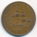 ЮАР, 1 пенни (1937–1947 г.)