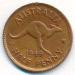 Австралия, 1/2 пенни (1949 г.)