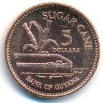 Гайана, 5 долларов (2002 г.)