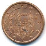 Испания, 5 евроцентов (2001 г.)