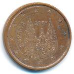 Испания, 5 евроцентов (2009 г.)