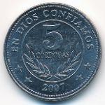 Никарагуа, 5 кордоба (2007 г.)