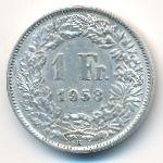 Швейцария, 1 франк (1958 г.)