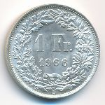 Швейцария, 1 франк (1966 г.)