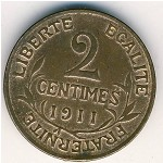 France, 2 centimes, 1898–1920