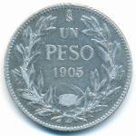 Чили, 1 песо (1905 г.)