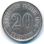 Германия, 20 пфеннигов (1874 г.)