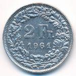 Швейцария, 2 франка (1961 г.)