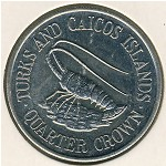 Turks and Caicos Islands, 1/4 crown, 1981