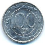 Италия, 100 лир (1993 г.)