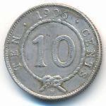 Саравак, 10 центов (1906 г.)