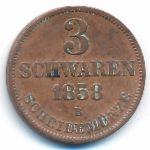 Ольденбург, 3 шварена (1858 г.)
