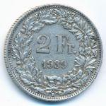 Швейцария, 2 франка (1939 г.)