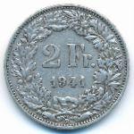 Швейцария, 2 франка (1941 г.)