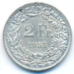 Швейцария, 2 франка (1953 г.)
