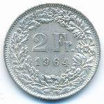 Швейцария, 2 франка (1964 г.)