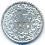 Швейцария, 2 франка (1965 г.)