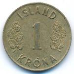 Исландия, 1 крона (1970 г.)
