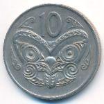 Новая Зеландия, 10 центов (1974 г.)