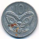 Новая Зеландия, 10 центов (1985 г.)