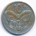 Новая Зеландия, 10 центов (1987 г.)