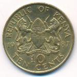 Кения, 10 центов (1987 г.)