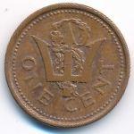 Барбадос, 1 цент (1987 г.)