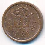 Барбадос, 1 цент (2009 г.)