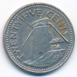 Барбадос, 25 центов (1973 г.)