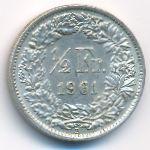 Швейцария, 1/2 франка (1961 г.)