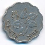 Свазиленд, 5 центов (2003 г.)