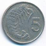 Каймановы острова, 5 центов (1987 г.)