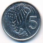 Каймановы острова, 5 центов (1996 г.)