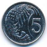 Каймановы острова, 5 центов (2002 г.)