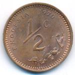 Родезия, 1/2 цента (1970 г.)