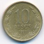 Чили, 10 песо (1995 г.)