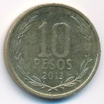 Чили, 10 песо (2013 г.)