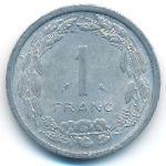 Экваториальные Африканские Штаты, 1 франк (1971 г.)
