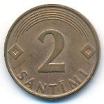 Латвия, 2 сантима (2000 г.)