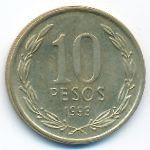 Чили, 10 песо (1993 г.)