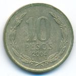 Чили, 10 песо (2004 г.)