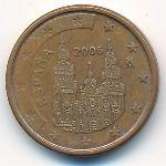Испания, 1 евроцент (2006 г.)