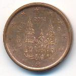 Испания, 1 евроцент (2012 г.)