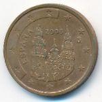 Испания, 2 евроцента (2008 г.)