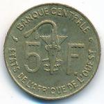 Западная Африка, 5 франков (2002 г.)