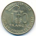 Западная Африка, 10 франков (2004 г.)